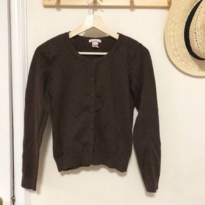 H&M brown fitted cardigan small knit
